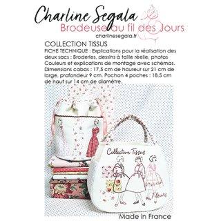 フランス Charline Segala  刺繍図案 生地コレクション(上級者向け)