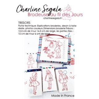 フランス Charline Segala  刺繍図案 宝物(上級者向け)