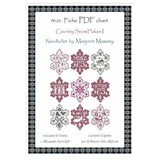 クロスステッチ図案 Country Snow Flakes 1(チャート9種類入り)