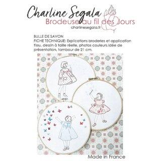 フランス Charline Segala  刺繍図案 シャボン玉(上級者向け)