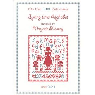 クロスステッチ図案 Spring time Alphabet( スプリングタイム アルファベット)