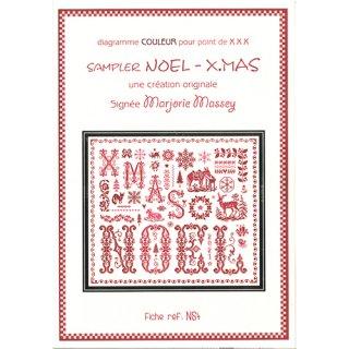 クロスステッチ図案 NOEL‐X'MAS( ノエル・クリスマス)