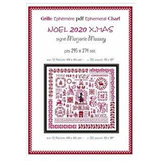 クロスステッチ図案 noel-xmas sampler クリスマスサンプラー