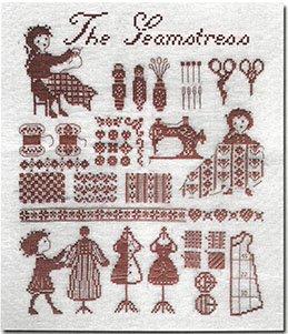 《最新作》クロスステッチ図案  The Seamstress  (針子)