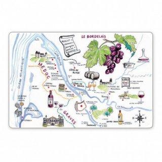"""フランス/Winkler  ランチョンマット """"フランスのワイン地図""""<br>"""