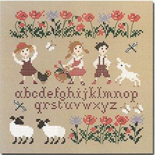 《最新作》クロスステッチ図案 幸せな子供時代 シリーズ 羊(小さいバージョン)