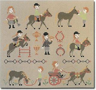 《最新作》クロスステッチ図案 Pony Club(ポニークラブ)