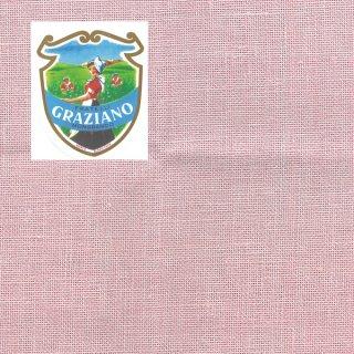 Graziano グラチアーノ クロスステッチ生地 リネン28カウント ピンク(約24x44cm)
