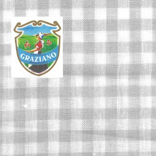 Graziano グラチアーノクロスステッチ生地 リネン28カウント グレーチェック(約50cm×180cm)