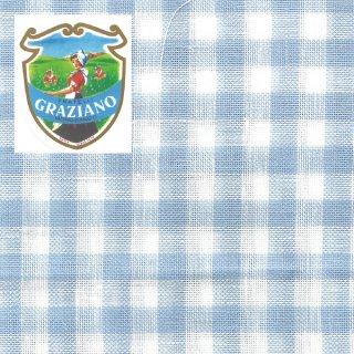 Graziano グラチアーノクロスステッチ生地 リネン28カウント ブルーチェック(約24cm×44cm)
