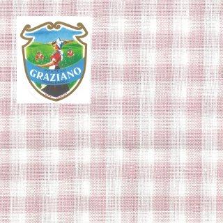 Graziano グラチアーノクロスステッチ生地 リネン28カウント ピンクチェック(約50cm×180cm)