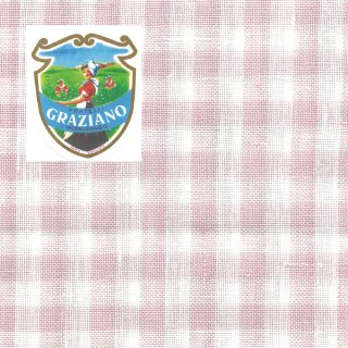 Graziano グラチアーノクロスステッチ生地 リネン28カウント ピンクチェック(約50cm×85cm)