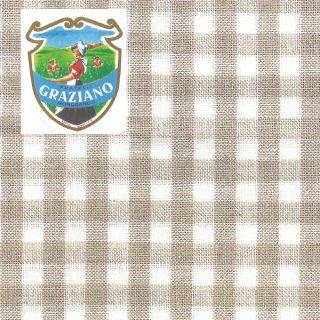 Graziano グラチアーノクロスステッチ生地 リネン28カウント ベージュチェック(約50cm×85cm)