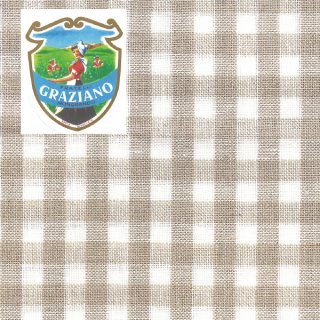 Graziano グラチアーノクロスステッチ生地 リネン28カウント ベージュチェック(約24cm×44cm)