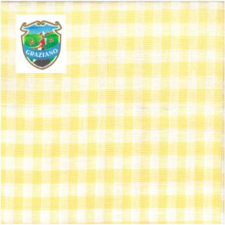 Graziano グラチアーノクロスステッチ生地 リネン28カウント イエローチェック(約24cm×44cm)