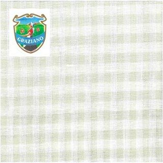 Graziano グラチアーノクロスステッチ生地 リネン28カウント グリーンチェック(約50cm×180cm)