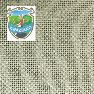 Graziano グラチアーノクロスステッチ生地 アイーダ14カウント グリーン(約50cm×180cm)