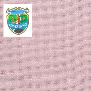 クロスステッチ生地Graziano アイーダ14カウント ピンク カット布(約24x44cm)