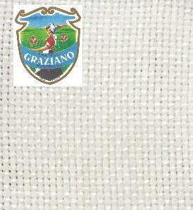 Graziano グラチアーノ クロスステッチ生地 アイーダ18カウント ホワイト(約24x44cm)