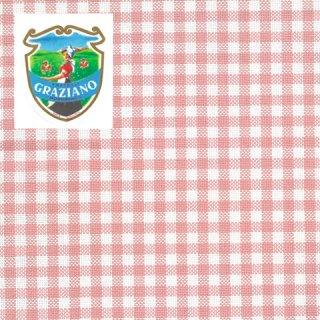 クロスステッチ生地Graziano アイーダ18カウントピンクチェック カット布(約24x44cm)