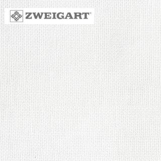 【ドイツ】ツバイガルト(ZWEIGART) クロスステッチ生地 カシェル リネン28カウント ホワイト(約50x140cm)<br>カラー番号100