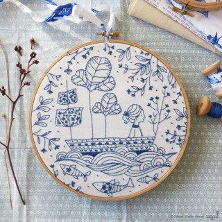 Blue Ocean (海の大冒険) 刺繍キット<br>