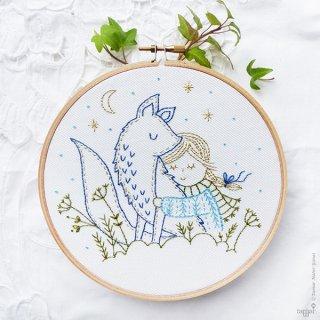 Winter Fox(冬のきつね) 刺繍キット<br>
