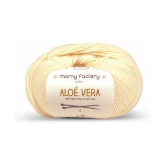 フランス マミーファクトリー(Mamy Factory) オーガニック毛糸 Aloe Vera ホワイト