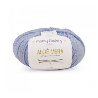 フランス マミーファクトリー(Mamy Factory) オーガニック毛糸 Aloe Vera アクアブルー