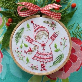 Christmas Girl (クリスマスガール)刺繍キット