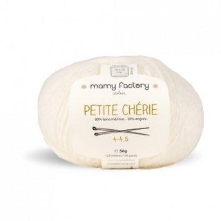 フランス マミーファクトリー(Mamy Factory) オーガニック毛糸 Petite Cherie ホワイト