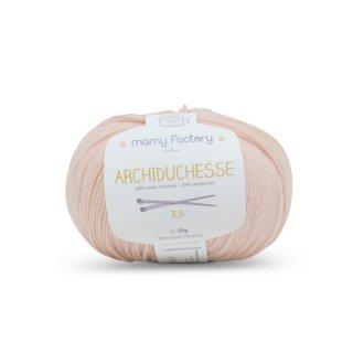 フランス マミーファクトリー(Mamy Factory) オーガニック毛糸 Archiduchesse ブラッシュピンク