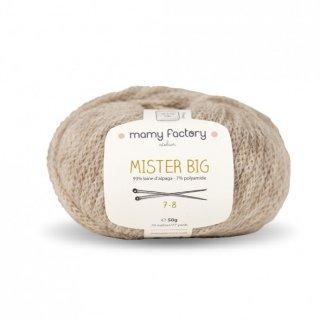 フランス マミーファクトリー(Mamy Factory) オーガニック毛糸 Mister Big ベージュ