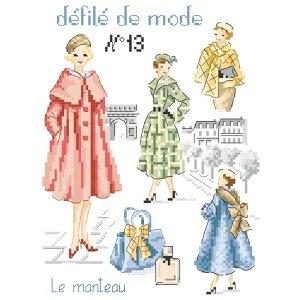 クロスステッチ図案 Defile de mode N°13 Le manteau(コート)