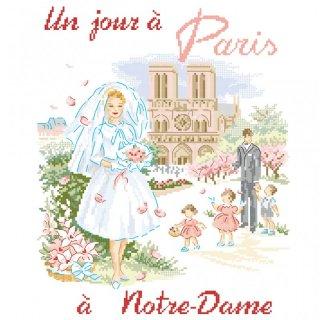 [新作]クロスステッチ図案 Un jour à Paris à Notre Dame(パリのノートルダム大聖堂でのある日)