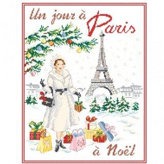 [新作]クロスステッチ図案 Un jour à Paris à Noël(クリスマスのパリのある日)