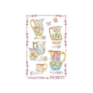 [新作]クロスステッチ図案 Collection de pichets(ピッチャーコレクション)