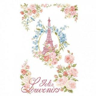 [新作]クロスステッチ図案 La vie en rose(バラ色の人生)