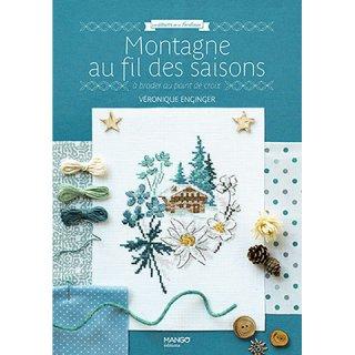 フランス クロスステッチ書籍 MANGO VÉRONIQUE ENGINGER : MONTAGNE AU FIL DES SAISONS(四季の山々)