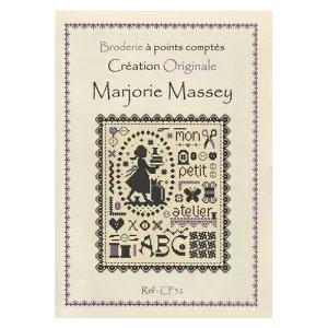 マージョリーマッシー(Marjorie Massey)クロスステッチ図案 Mon petit atelier 私の小さなワークショップ<br>フランス語説明書のみ