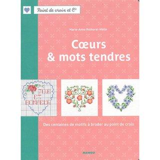MANGO Coeurs & mots tendres Marie-Anne Rethoret-Melin クロスステッチ洋書