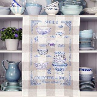 クロスステッチキット トルション ボウルコレクション N°2 青い花【アイーダ】<br>