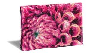 せと刺しゅう カードケース Gradation Dahlia magenta ダリア マゼンタ 名刺入れ