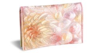せと刺しゅう カードケース Gradation Dahlia pastel ダリア パステル 名刺入れ