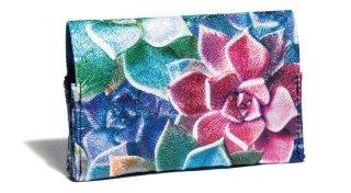 せと刺しゅう カードケース Colorful Echeveria カラフル エケベリア 名刺入れ