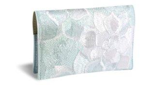せと刺しゅう カードケース Colorful Echeveria snow white カラフル エケベリア スノーホワイト 名刺入れ