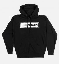 ZIP HOODIE CENSOR BAR BLACK/WHITE