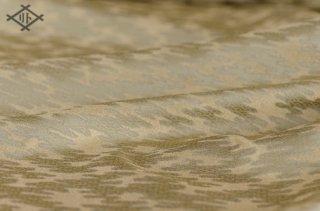 一丁源氏緞子・正絹・鼠白茶・霰雲頭文(20センチ〜・価格は10センチあたり)