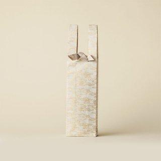 ワインバッグ  金襴 / 白 水雲