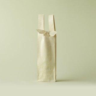 ワインバッグ  緞子 / 生成 二重蔓牡丹唐草